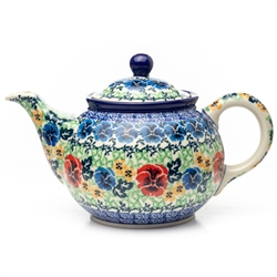 Beautiful teapot with a 30oz. capacity - 3.8 cups. Pattern Designed By Ana Fryc. Signature Series Pattern: U3801.