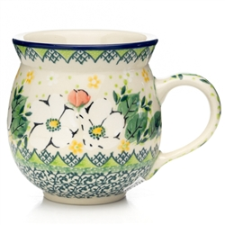 "Pattern designed by Maria Starzyk. The artist has been connected with the Artistic Handicraft Cooperative ""Artistic Ceramics and Pottery"" since 1997. Since 2003 she has been a pattern designer. Signature Unikat pattern number U4813."
