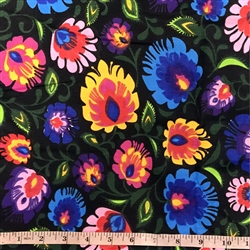 "100% Cotton. Material is 64"" wide. Price is per half meter (19.5"") length. We make one cut to fill the entire length that you require. All sales are final and are non-returnable. Imported from Poland"