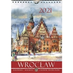 This beautiful small format spiral bound wall calendar features the works of Polish artist Katarzyna Tomala. 15 scenes from Wroclaw in watercolours