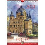 This beautiful small format spiral bound wall calendar features the works of Polish artist Katarzyna Tomala. 15 scenes from Lodz in watercolours