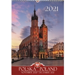 This beautiful large format spiral bound wall calendar features 15 scenes from around Poland in photographs. Includes all Polish holidays and names days in Polish. European layout-Monday is the first day of wk