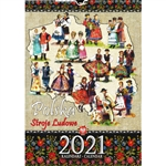 This beautiful large format spiral bound wall calendar 15 folk costumes from around Poland. Includes all Polish holidays and names days in Polish. European layout (Monday is the first day of the week). Descriptions and days and months are displayed in Pol
