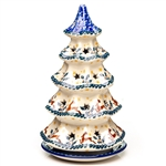 ​Collectors of Polish stoneware from Poland's premier company, Ceramika Artystyczna, will enjoy this unique item. Each of the stars on the tree is cut out to allow heat out. Artist initialed.