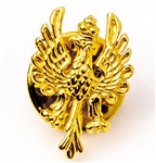 "Mini Polish Eagle Pin made of gold plated sterling silver.  Size is approx .75"" x .5"".  Made In Poland.  Tie Tack Back Metal"