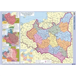 The Historical Map of Poland is a unique map containing administrative maps of Poland. It is the only map that shows such a vast area of historical knowledge.