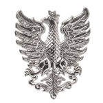"Sterling silver Polish eagle pendant from the period 1919 - 1920. Size is approx 1"" x .8"".  Made In Poland"
