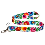 The folk lanyard features a a beautiful Lowicz floral design.