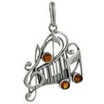 "Our musical notes pendant is approx 1.25"" x .1""."