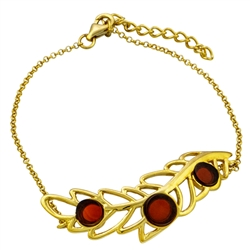 "This attractive gold plated bracelet can be adjusted to a maximum 7.5"" diameter."