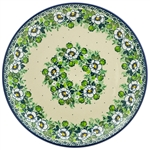 "This beautiful 10.5"" dinner plate can also be hung using special holes in the back.