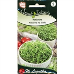 ​Cress sprouts are a rich source of vitamin C, PP, P, B and compounds of potassium, magnesium, calcium, sulfur and many microelements. They strengthen the body and have a positive effect on the condition of the skin, hair and nails.