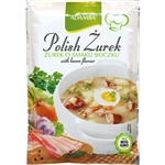 Adamba Polish Zurek Soup is delicious and easy to make. Just add water. Instructions in Polish and English. Makes 3 8oz servings.