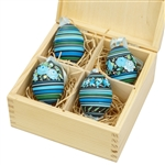 Beautiful hand painted duck eggs with floral designs inside a hand painted wooden box. The duck eggs have been blown empty and come with their own hangers. They come nested inside this beautiful box. Hand made so no two eggs or boxes are exactly alike.