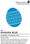 Niagara Blue Eggshell Dye is our original Blue dye that has proven to be a strong blue for all your pysanky creations.  Because this pysanka dye colour has lasted the test of time, we gave it the new Canadian name of Niagara Blue.