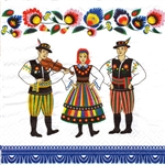 Polish Luncheon Napkins (package of 20) - Lowicz Dancers