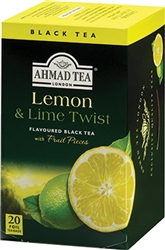 Ahmad Lemon and Lime Twist Black Tea 20 foil tea bags