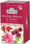 Ahmad Rosehip Hibiscus & Cherry Herbal Tea 20 foil tea bags