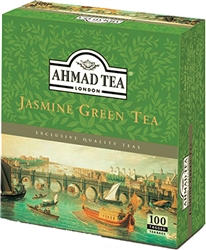 Ahmad Jasmine Green Tea 100 tagged tea bags