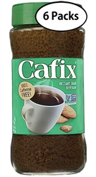 6 Jars Cafix Instant Grain Beverage in Jar 7oz/200g Each
