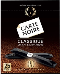 Carte Noire Instant Classic Coffee in Individual Sticks 25 x 2g