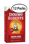 12 Packs Douwe Egberts Aroma Rood Ground Coffee 8.8oz/250g Each
