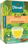 Dilmah Ceylon Natural Green Tea with Cinnamon 20 Tea Bags