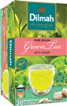 Dilmah Ceylon Natural Green Tea with Ginger 20 Tea Bags