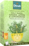 Dilmah Green Rooibos with Holy Basil, Ginger, Lemon & Lemongrass Infusion 20 Bags