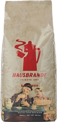 Caffe Hausbrandt Classic Espresso Whole Beans in Gold 2.2lbs/1kg (524)