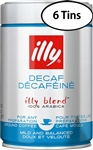 6 Packs Illy Decaffeinated Ground Coffee  8.8oz/250g Each