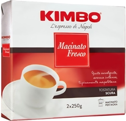 Kimbo Macinato Fresco Ground Coffee in Bag 17.6oz/500g