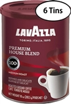6 Cans Lavazza Premium House Blend Ground  10oz/284g Each