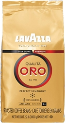 Lavazza Qualita Oro Whole Beans Coffee in Bag 2.2lb/1kg (1943)