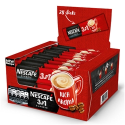 Nescafe 3 in 1 Classic Rich Aroma Instant Coffee in single packets 28 x 17.5g