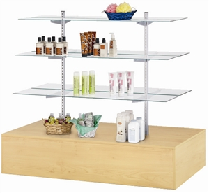 Economy Glass Shelf Gondolas