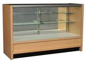 Bold Full Vision Wood Display Cases