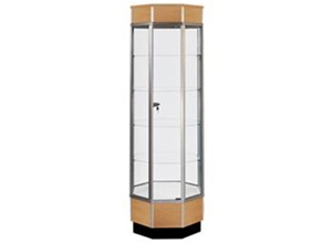 Streamline Octagon Tower Display Cases