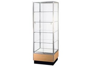 Streamline Square Tower Display Cases