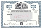 Playboy Enterprises, Inc. Specimen Stock Certificate