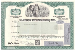 Playboy Enterprises, Inc. Stock Certificate