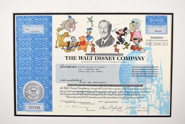 how to purchase disney stock certificate