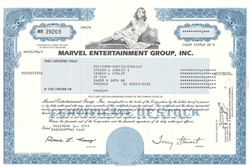 Marvel Entertainment Group Stock Certificate