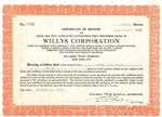 Willys Corporation Stock Certificate