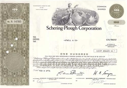 Schering-Plough Corporation Stock Certificate