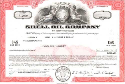 Shell Oil Company Bond