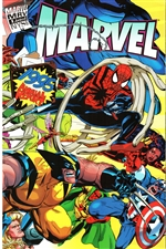 1995 Marvel Annual Report - Wolverine, Spiderman and Others Cover