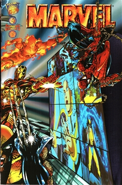 1994 Marvel Annual Report- Wolverine, Spiderman and Others Cover, #4
