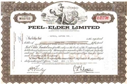 Peel-Elder Limited Stock Certificate