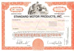 Standard Motor Products, Inc. Stock Certificate